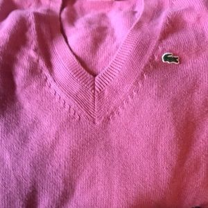 Lacoste 34 pink long sleeve sweater